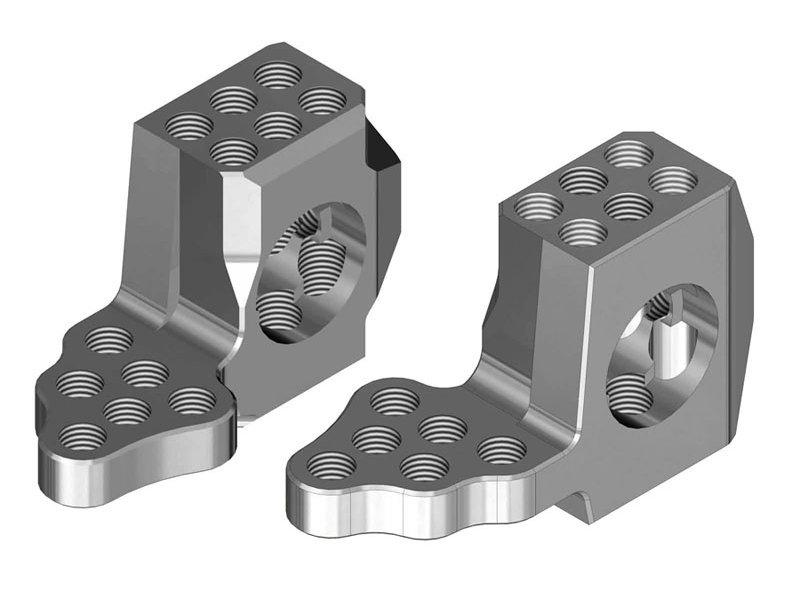 WRAP-UP Next 0542-FD - GX RWD Front Knuckle Ver.4 Super Lightweight - Silver