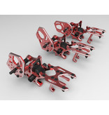 Addiction RC AD-YDHTM-R - High Traction Rear Motor Bulkhead for YD2 - Red LIMITED