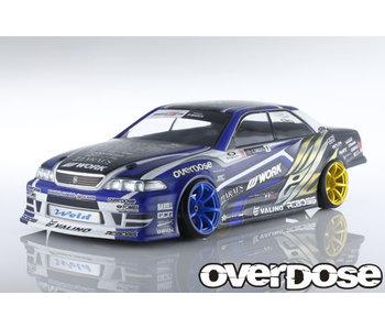 Overdose Toyota Mark II JZX100 Clear Body & Weld Hyakushiki Rokugouki Decal Set