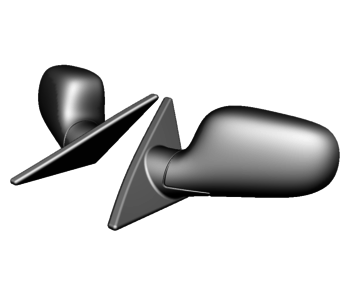 Rc Arlos Side Mirrors for Nissan 300ZX (Z32) TwinZ Design