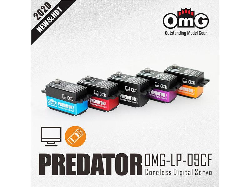 RC OMG LP-09CF/BK - Predator Full Metal Coreless Digital Low Profile Servo - Black