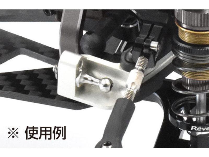 ReveD SPM Titanium Rod End Ball Long Neck / φ4.3mm / Screw Length 6.0mm (2pcs)