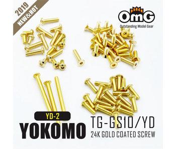 RC OMG Golden Screw Kit for Yokomo YD-2E