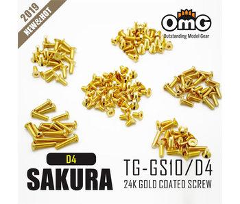 RC OMG Golden Screw Kit for Sakura D4 AWD/RWD