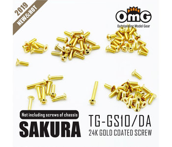 RC OMG Golden Screw Kit for Sakura D4 (AWD without Chassis screws)