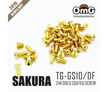 RC OMG Golden Screw Kit for Sakura D4 (RWD Chassis)