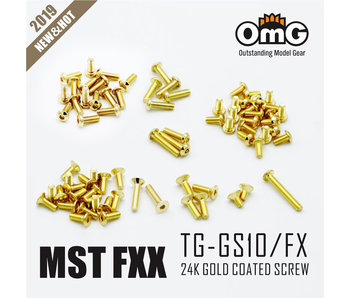 RC OMG Golden Screw Kit for MST FXX