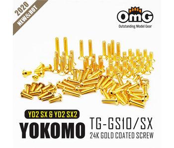 RC OMG Golden Screw Kit for Yokomo YD2 SX & SXII