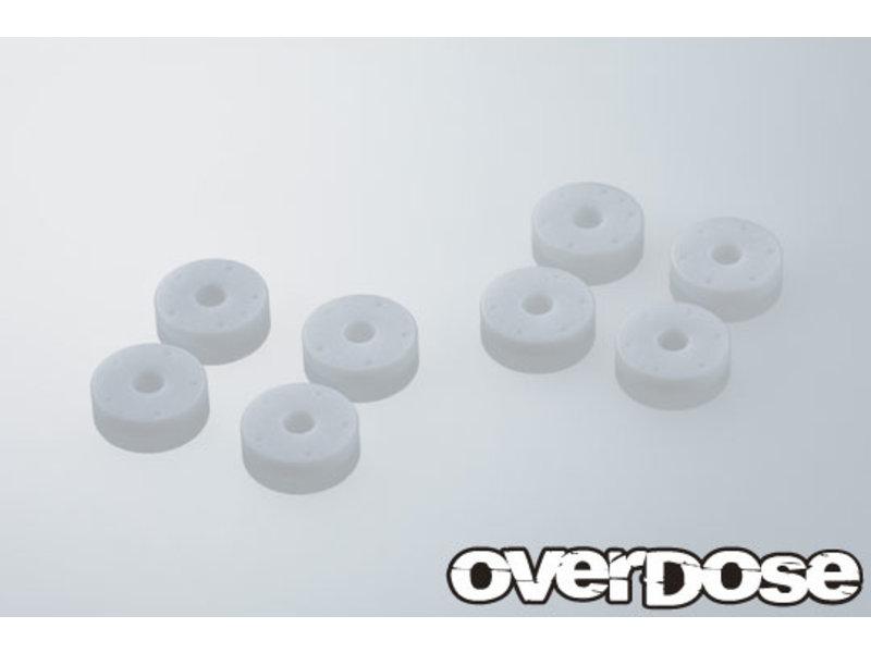 Overdose 1.85t Machined PTFE Shock Piston Set for HG Shock Spec.3 (φ0.5x5/φ0.5x6/φ0.6x5/φ0.6x6)