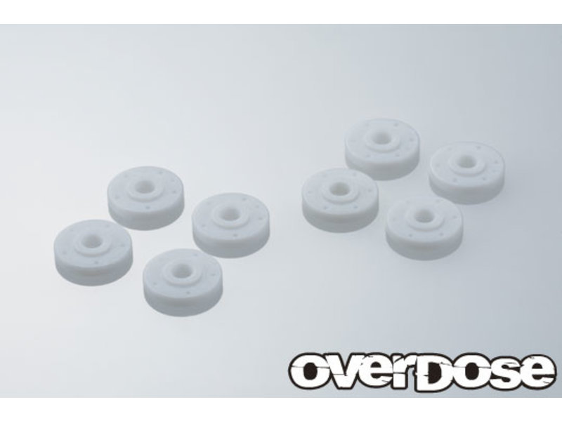Overdose 1.50t Machined PTFE Type-SC Shock Piston Set for HG Shock Spec.3 (φ0.5x5/φ0.5x6/φ0.6x5/φ0.6x6)