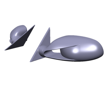 Rc Arlos Side Mirrors for Porsche 911 (997) LB★WORKS