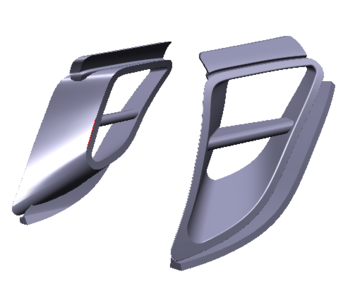 Rc Arlos Rear Side Air Vents for Porsche 911 (997) LB★WORKS
