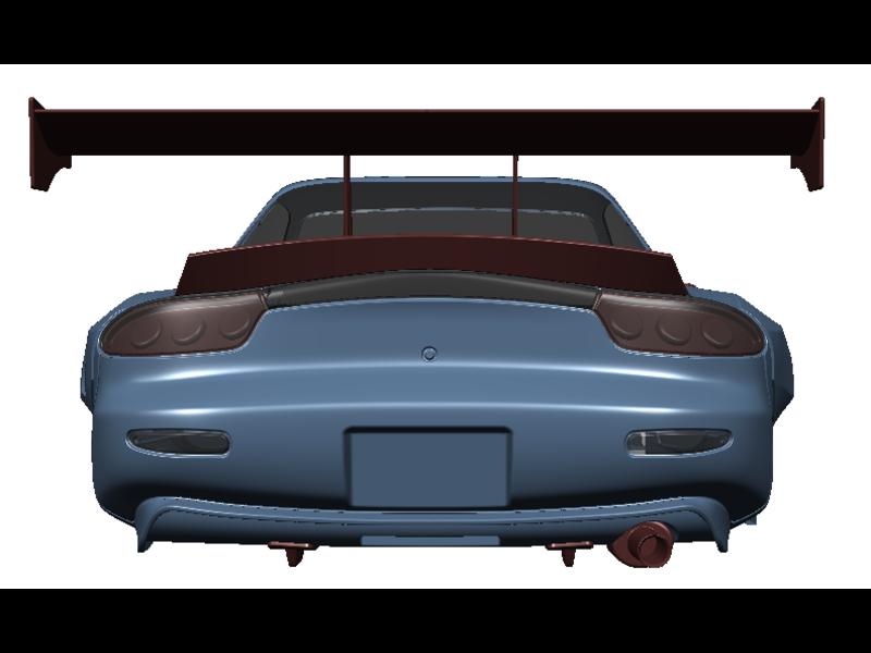 Rc Arlos RC-MRX7FD-DF - Diffuser Fins for Mazda RX-7 FD