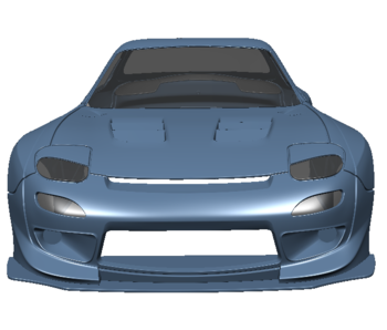 Rc Arlos Mazda RX-7 FD Clear Body