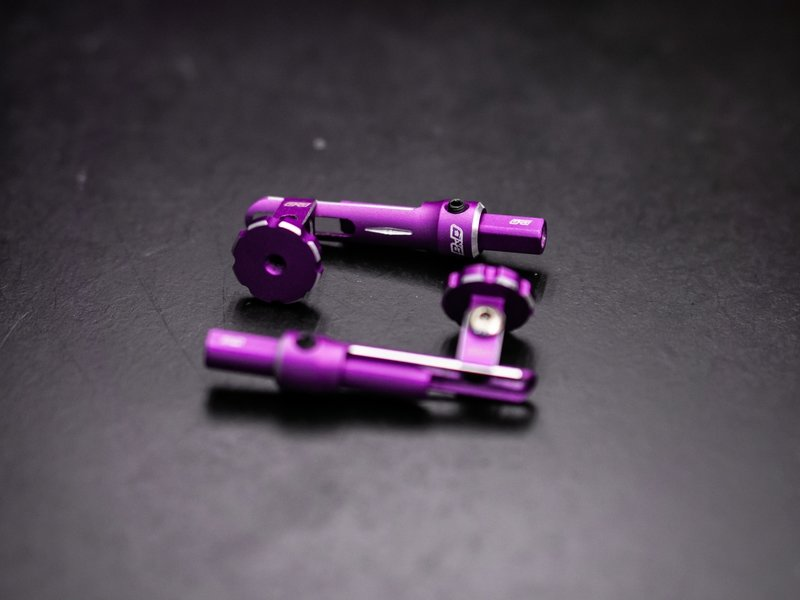 BnD Racing Aluminium Rear Body Mount / Color: Purple