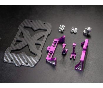 BnD Racing Alum. Battery Holder / Purple