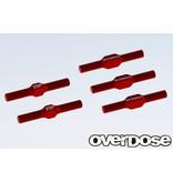 Overdose Aluminium Turnbuckle Set for GALM / Color: Red