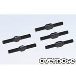 Overdose Aluminium Turnbuckle Set for GALM / Color: Black