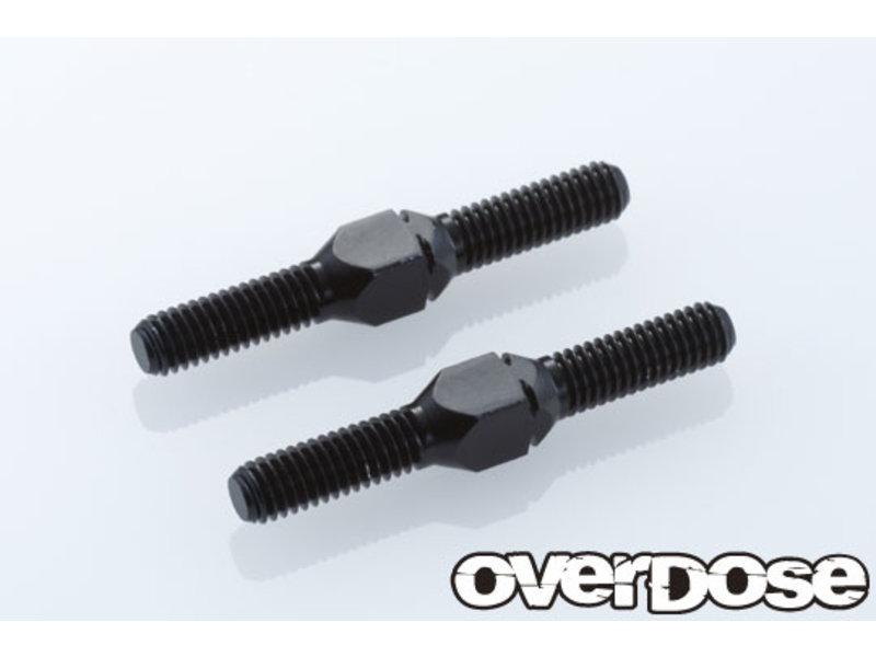 Overdose Aluminum Turnbuckle 24mm for XEX / Color: Black (2pcs)