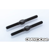 Overdose Aluminum Turnbuckle 35mm for XEX / Color: Black (2pcs)
