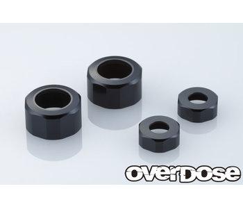 Overdose Alum. Shock Cap Set for XEX / Black (2)