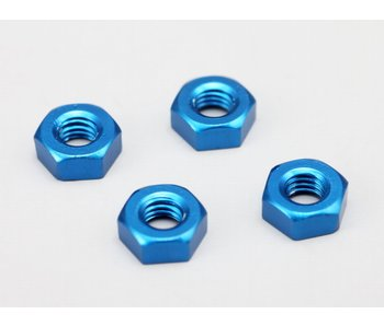 Yokomo Aluminium Plain Nuts M3 - Blue (4pcs)