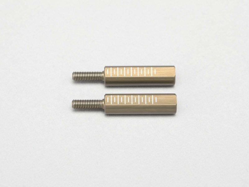 Yokomo D-156-21A - Aluminium Rod End Adaptor 21mm for Front Lower A-Arm (2pcs)