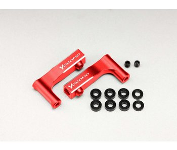 Yokomo Aluminum Front Upper I-Arm for YD-2 - Red (1 set)
