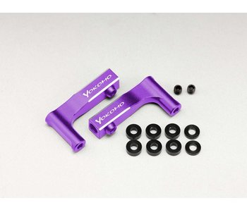 Yokomo Aluminum Front Upper I-Arm for YD-2 - Purple (1 set)