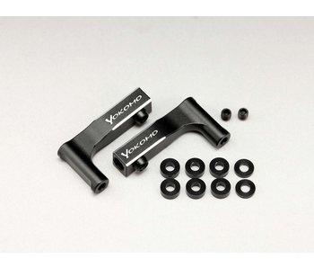 Yokomo Aluminum Front Upper I-Arm for YD-2 - Black Edge Design (1 set)