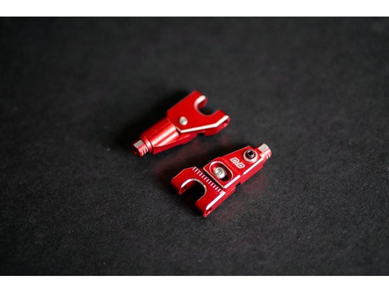 BnD Racing Aluminium Upper Arm Set / Color: Red
