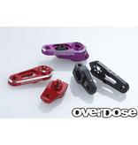 Overdose Aluminium Direct Servo Horn type JT 25T Futaba / Color: Black