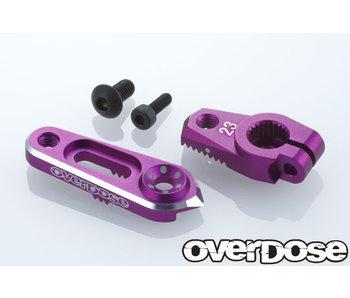 Overdose Alum. Direct Servo Horn type JT 23T Sanwa, KO / Purple