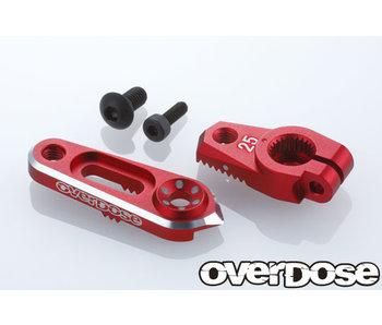 Overdose Alum. Direct Servo Horn type JT 25T Futaba / Red