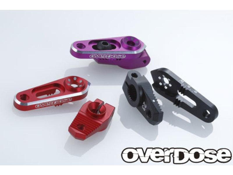 Overdose Aluminium Direct Servo Horn type JT 25T Futaba / Color: Red