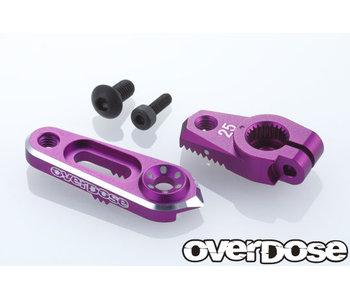 Overdose Alum. Direct Servo Horn type JT 25T Futaba / Purple