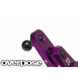 Overdose Aluminium Direct Servo Horn type JT 25T Futaba / Color: Purple