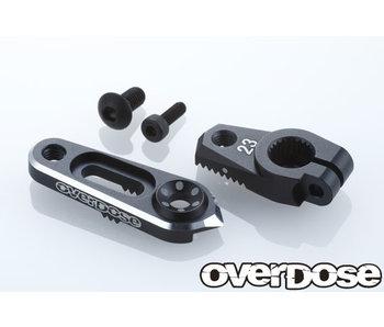 Overdose Alum. Direct Servo Horn type JT 23T Sanwa, KO / Black