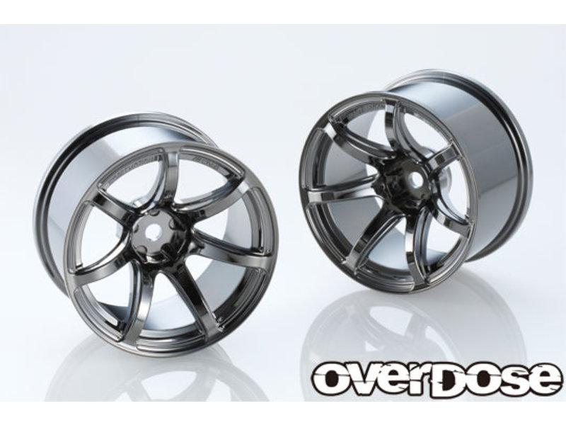 Overdose Work Emotion T7R 30mm / Color: Black Metal Chrome / Offset: 9mm (2)