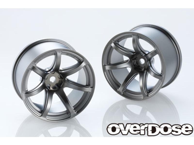 Overdose Work Emotion T7R 30mm / Color: Matte Black Metal Chrome / Offset: 9mm (2)