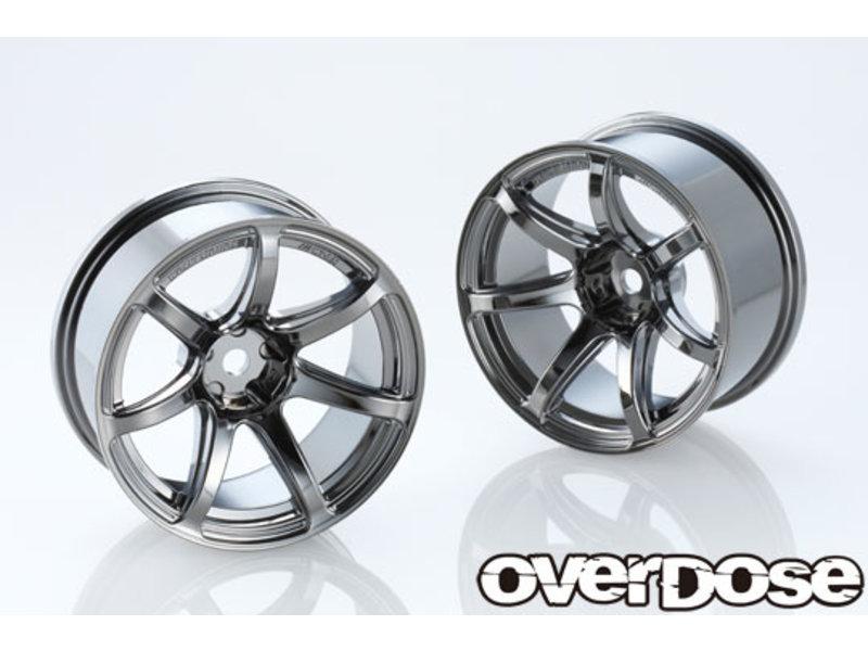 Overdose Work Emotion T7R 26mm / Color: Black Metal Chrome / Offset: 7mm (2)