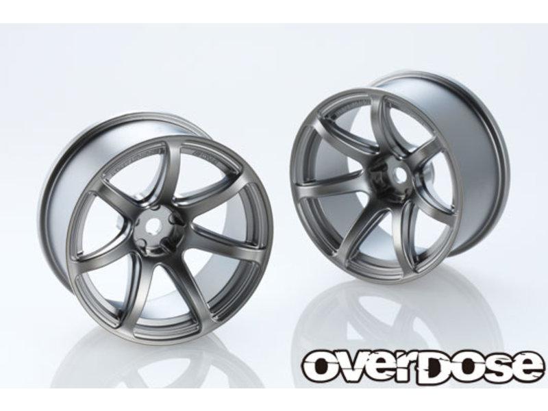 Overdose Work Emotion T7R 26mm / Color: Matte Black Metal Chrome / Offset: 7mm (2)