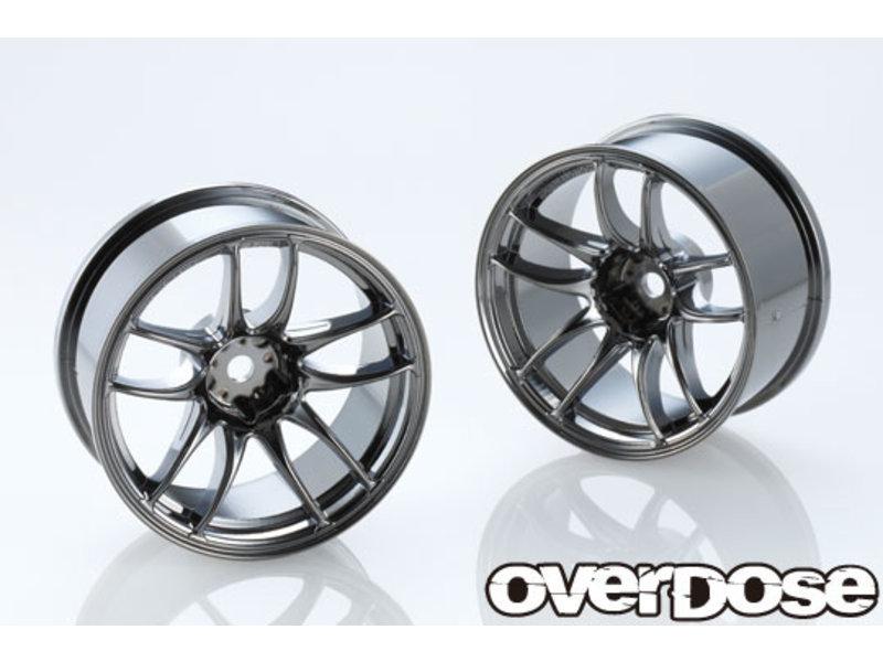 Overdose Work Emotion CR Kiwami 26mm / Color: Black Metal Chrome / Offset: 7mm (2)