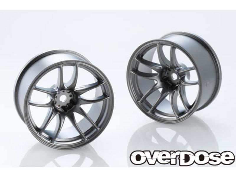 Overdose Work Emotion CR Kiwami 26mm / Color: Matte Black Metal Chrome / Offset: 7mm (2)