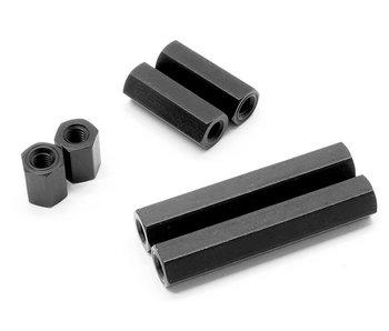 WRAP-UP Next Alum. Hexagon Spacer 20mm - Black