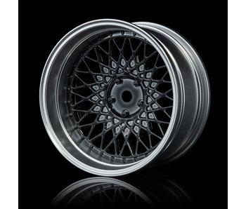 MST 501 Wheel Set - Adj. Offset (4) / Silver Black-Flat Silver