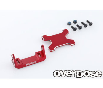 Overdose Alum. Rear ESC Mount Type-JT for Vacula II, GALM, GALM Ver.2 / Red