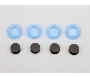 Yokomo Bladder Hard Silicone Type - Clear Blue (4pcs)