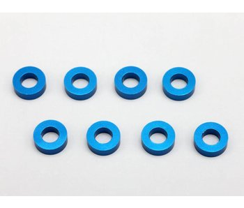 Yokomo Aluminium Shim φ3.0mm x φ6.0mm x 2.0mm - Blue (8pcs)