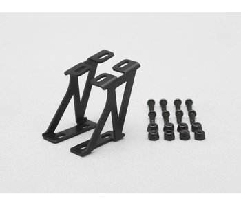 Yokomo Aluminium Wing Stay Middle Version - Black (1set)